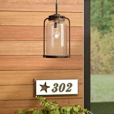 Andover Mills™ Millport Antique Bronze 1 -Bulb Outdoor Hanging Lantern   Wayfair