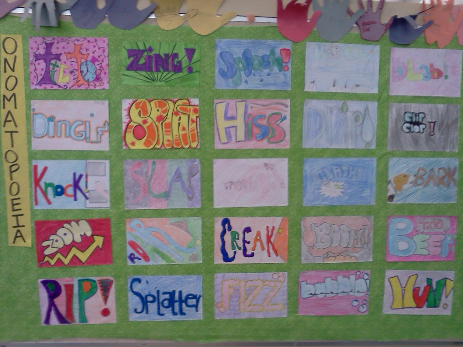Onomatopoeia Wall Students Choose Are Assigned A