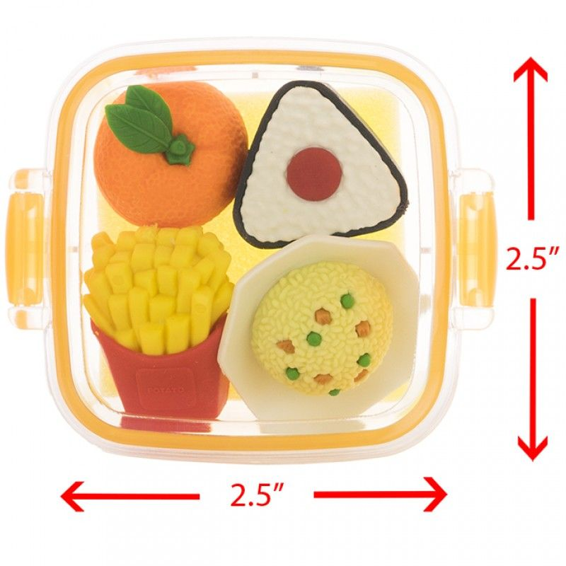japanese variety lunch bento box erasers 3 ver