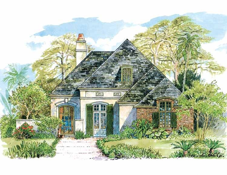Eplans french country house plan subtle french country for French cottage plans
