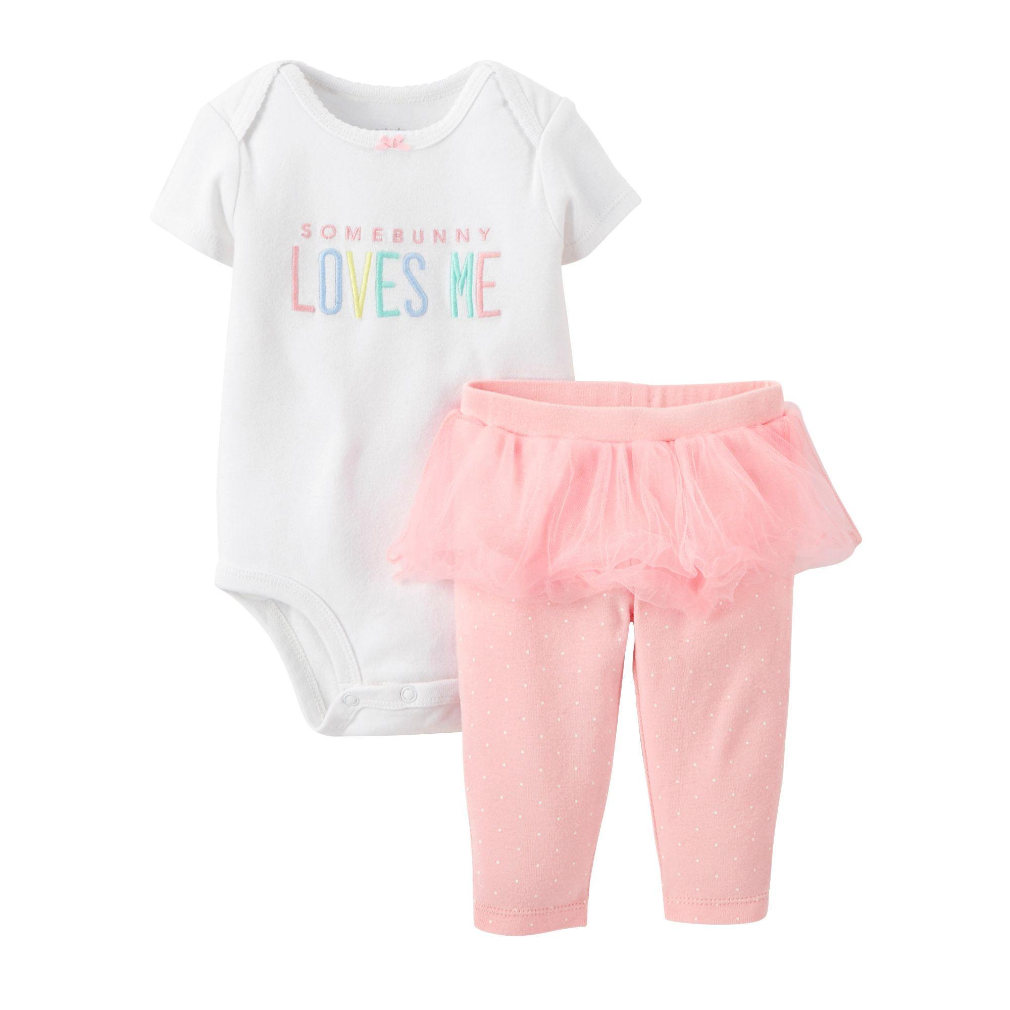 Carter s Baby Girls 2 Piece Easter Bodysuit & Tutu Pants Set