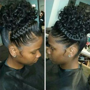 Cute Braided Hairstyles For Black Girls With High Puff Braids