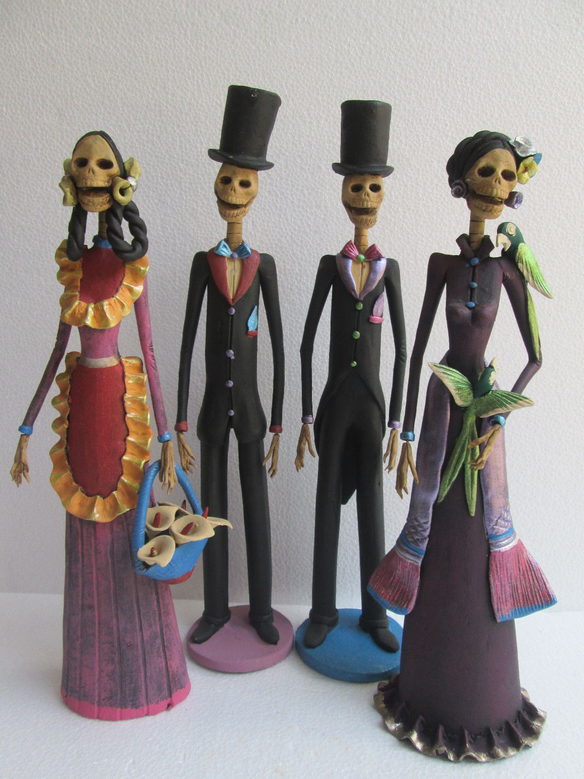 4 Catrina Set Mexican Folk Art Day of The Dead Catrina Lot Wholesale Large | eBay