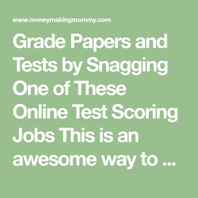 Grade papers online jobs