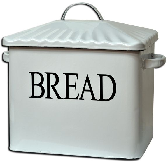 Country Kitchen Bread: Enamelware Bread Box Is A Great Accent For Your Country