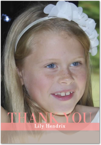 Modern Thank you note ideas for kids (after the party's over)   |the house of hendrix
