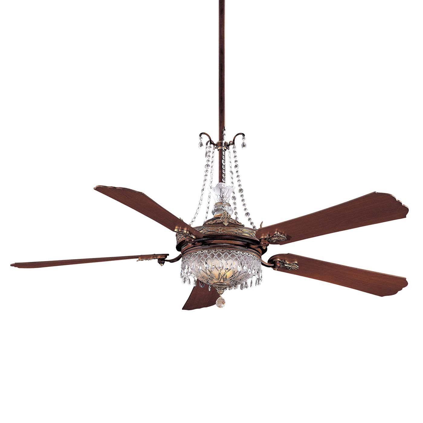 Shop Minka Aire F900 BCW 7 Light 68 in Cristafano Ceiling Fan at