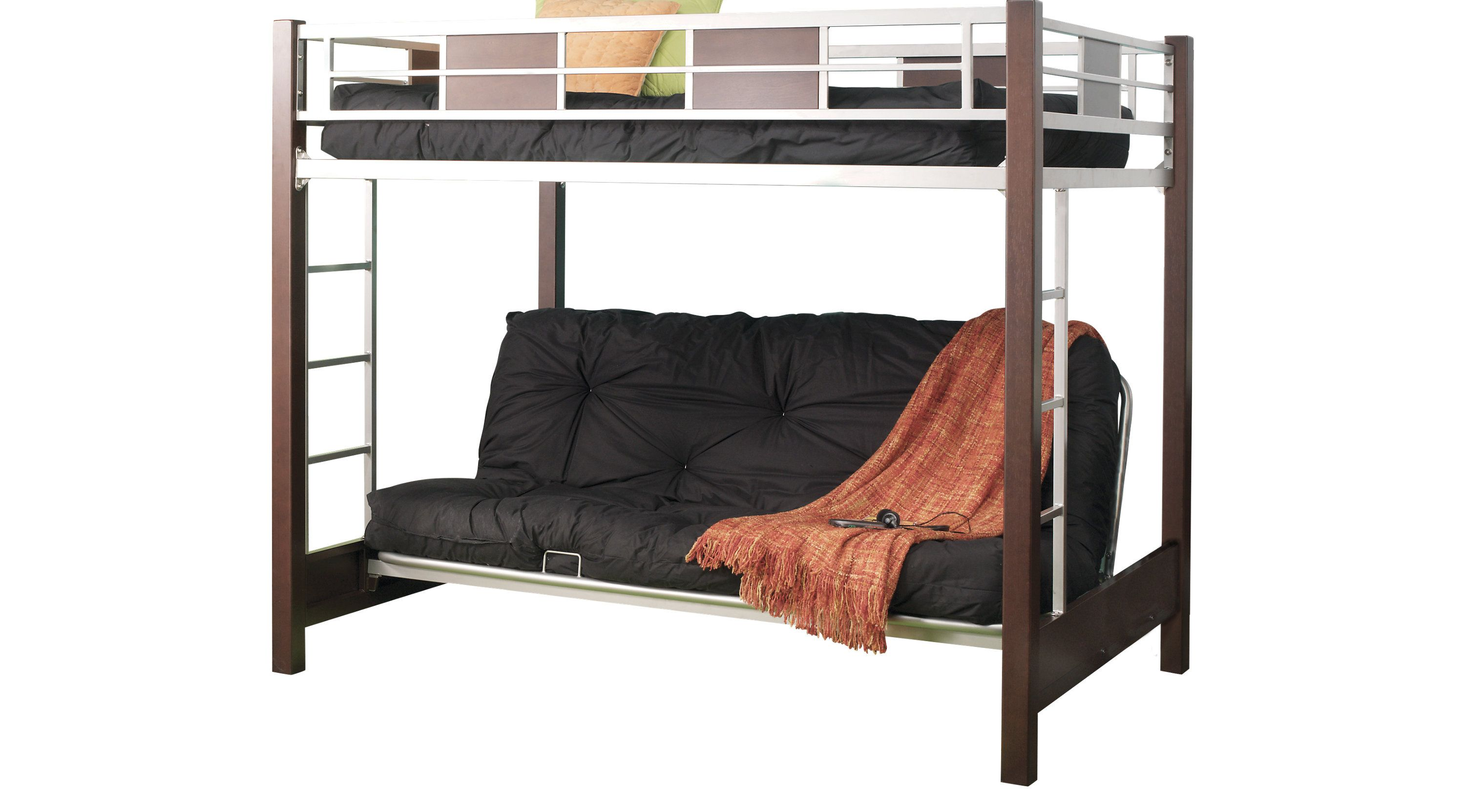 Bunk Beds Rooms To Go Ivy League Cherry 4 Pc Full Futon Loft Bed 36111627 Bunk Bed Rooms Full Futon Loft Bed
