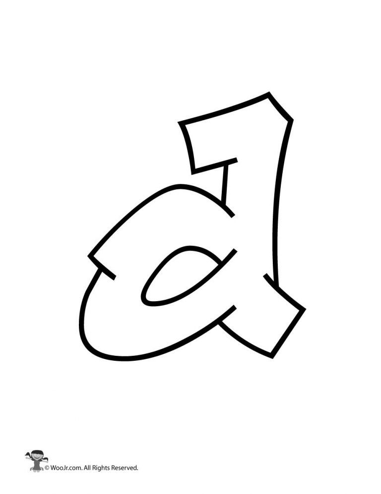graffiti lowercase letter d bubble letters alphabet letter d lower case letters lowercase