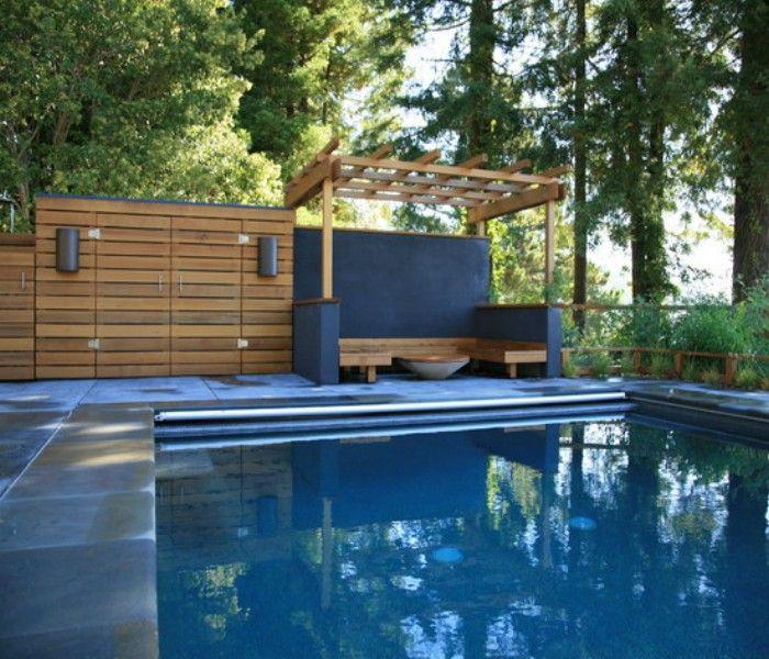 Pool Gazebo Ideas swimming pool gazebo ideas 5 Wooden Deck Pergola For Swimming Pool