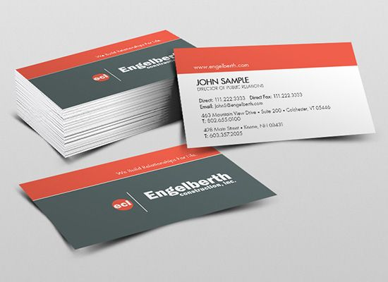 Color combination and logo layout Business Card Inspiration - business card sample