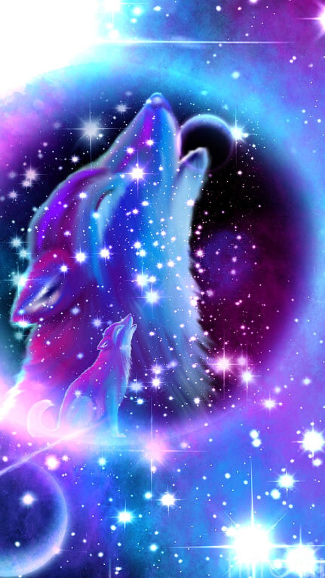 Pin By Gracelynn Koehl On Wallpapers Wolf Poster Wolf Wallpaper Galaxy Wolf