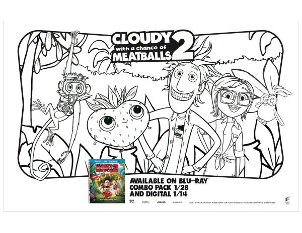 Cloudy With A Chance Of Meatballs 2 Printable Coloring