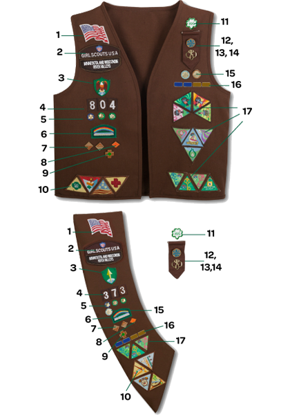 brownie sash diagram probability venn worksheet brownie-uniform-diagram   girl scouts pinterest moldes, manualidades y ropa