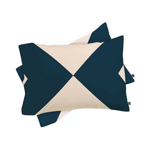 Khristian A Howell Ninette Pillow Sham Navy DENY Designs ($21) ❤ liked on Polyvore featuring home, bed & bath, bedding, bed accessories, blue, patterned bedding, lightweight bedding, navy shams, deny designs bedding and blue pillow shams