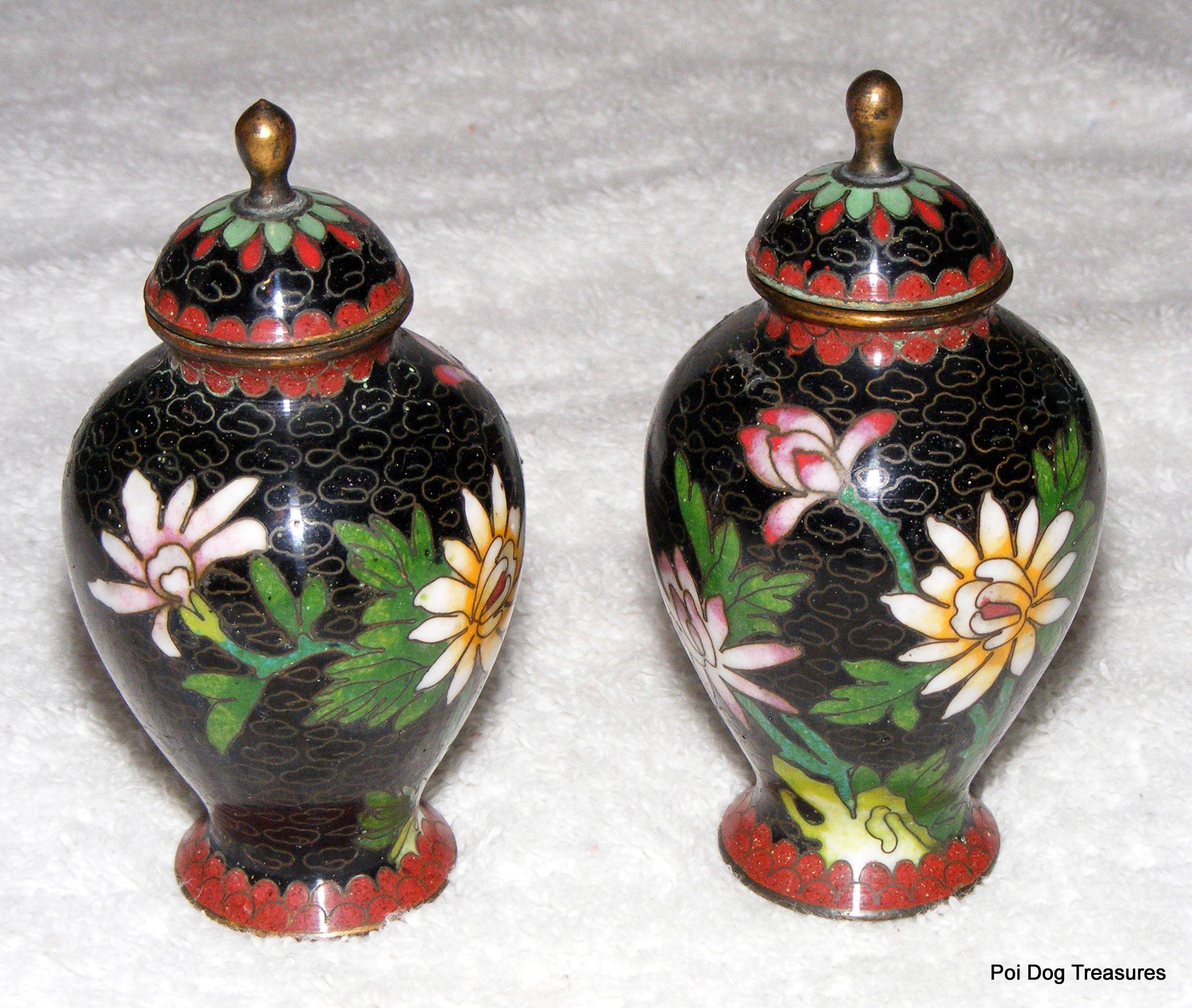 Wonderful miniature chinese cloisonne vasesurns with lids wonderful miniature chinese cloisonne vasesurns with lids reviewsmspy