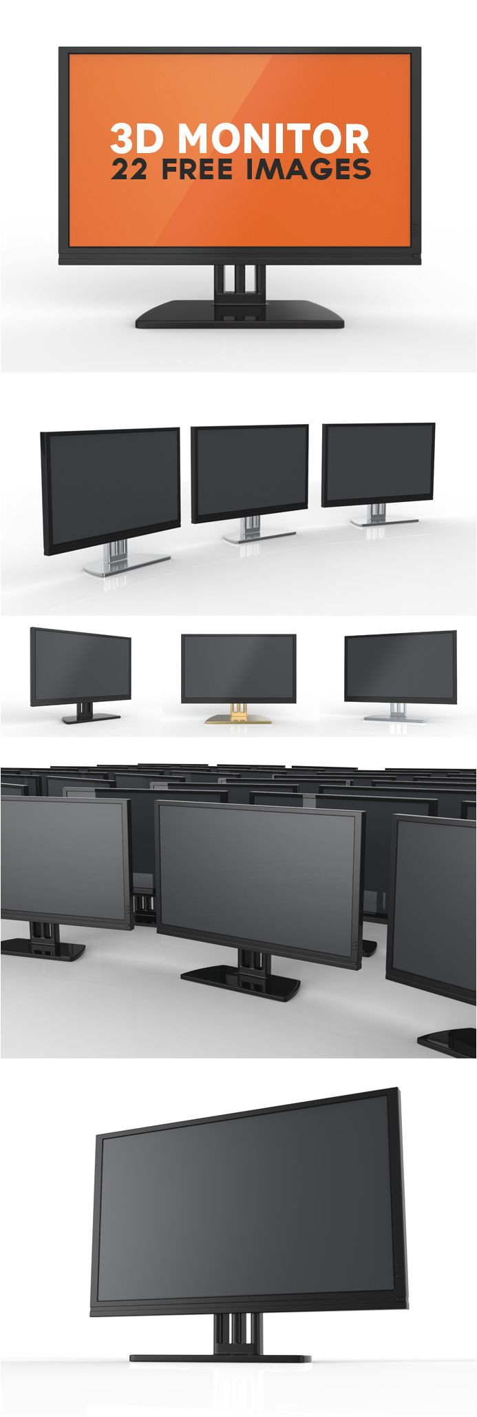 Free 3d Monitors Freebies Pinterest Mockup Design And Mockup