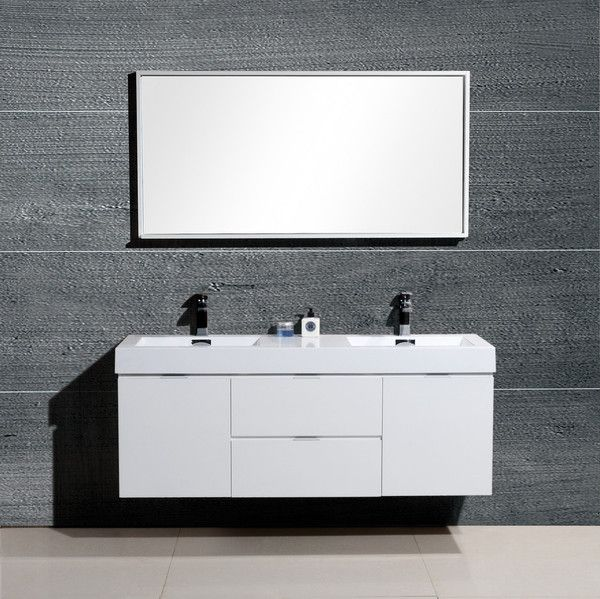 Best Bliss 60 Kubebath High Gloss White Wall Mount Modern 400 x 300