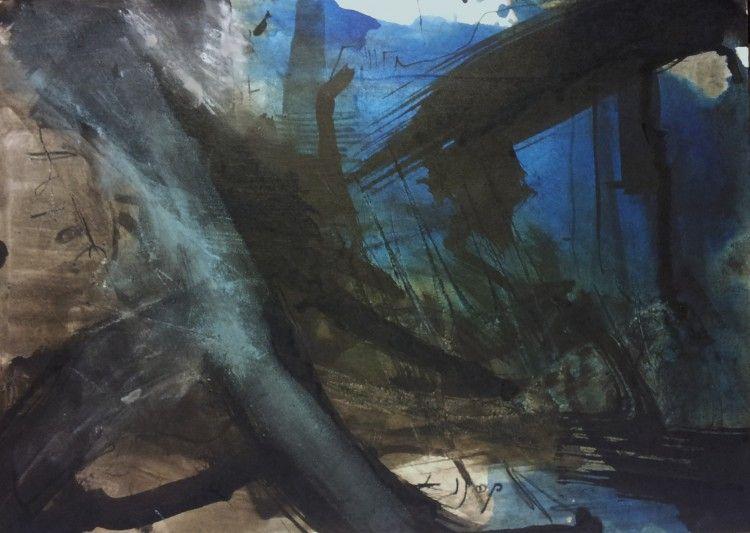 Abstracción65 - Painting ©2013 by Lola Castillejo Ribera -
