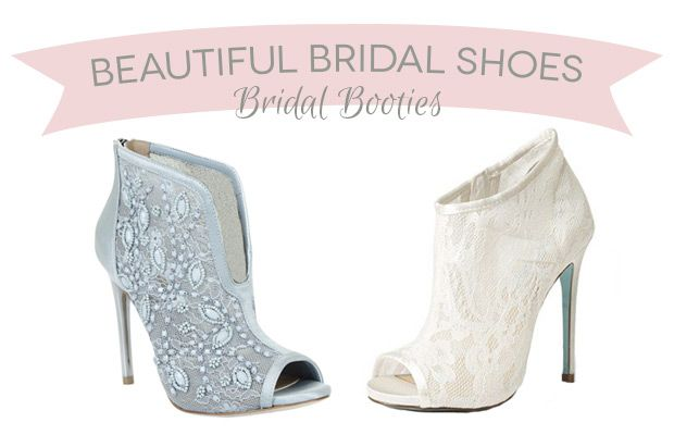 14 Beautiful Bridal Booties | www.onefabday.com