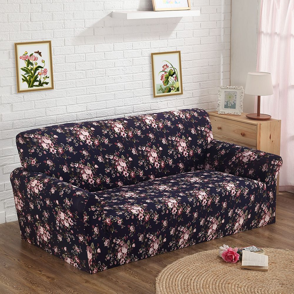 Printed Color New Spandex Stretch Couch Cover Sofa Cover Big Elastic ...