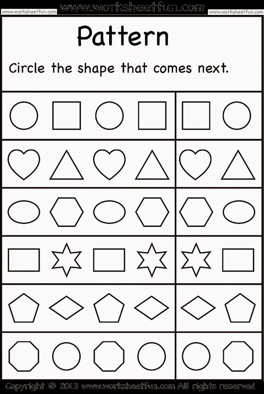 Kindergarten Worksheets Free Kindergarten Worksheets Pattern Worksheets For Kindergarten Pattern Worksheet