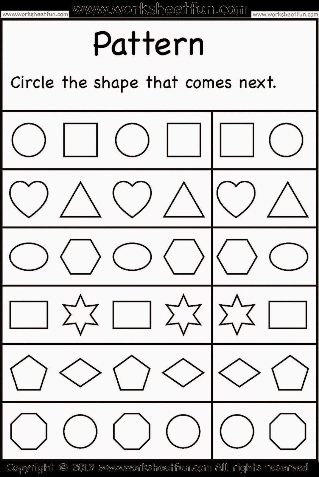 Kindergarten Worksheets Free Kindergarten Worksheets Pattern Worksheets For Kindergarten Pattern Worksheet