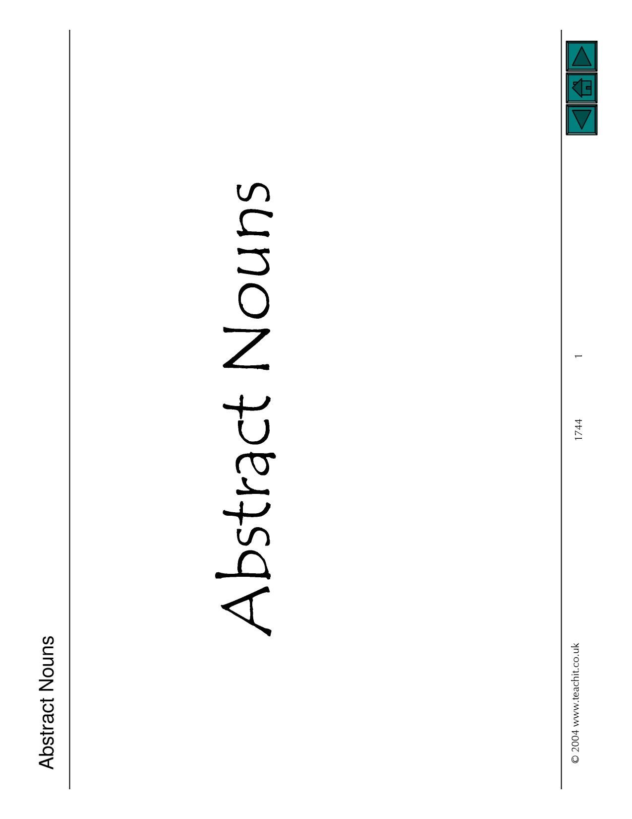 Abstract Nouns Powerpoint In
