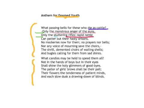 wilfred owen anthem for doomed youth analysis
