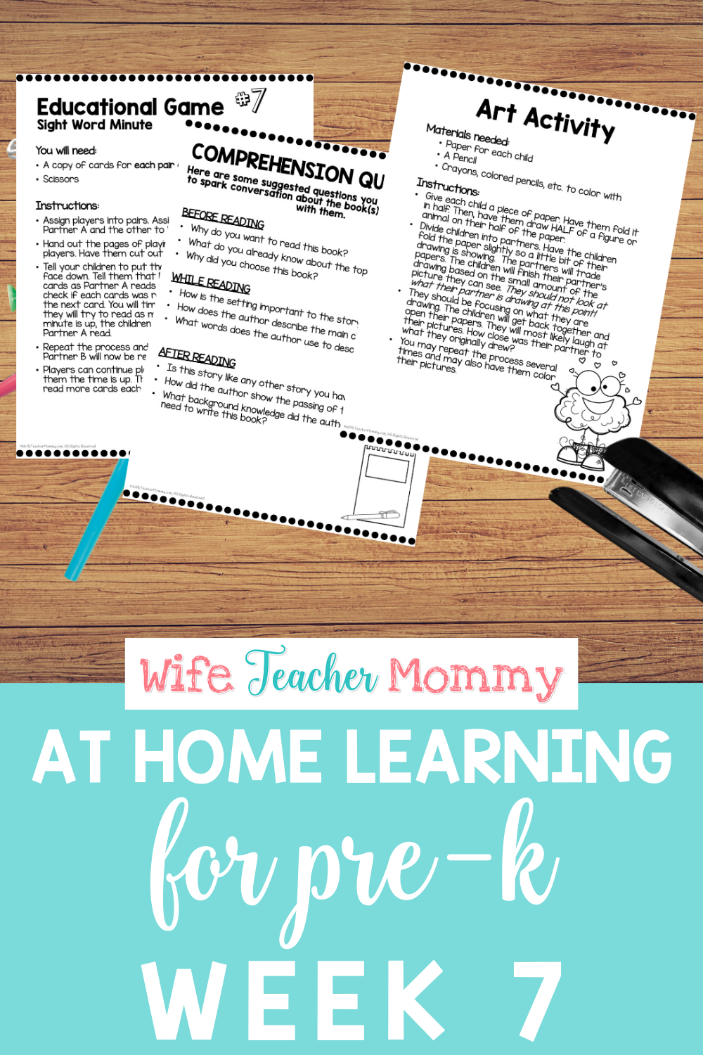 Pre K Distance Learning Packet At Home Learning Activities Week 7 Teacher Time Savers Distance Learning Learning Activities [ 1500 x 1000 Pixel ]