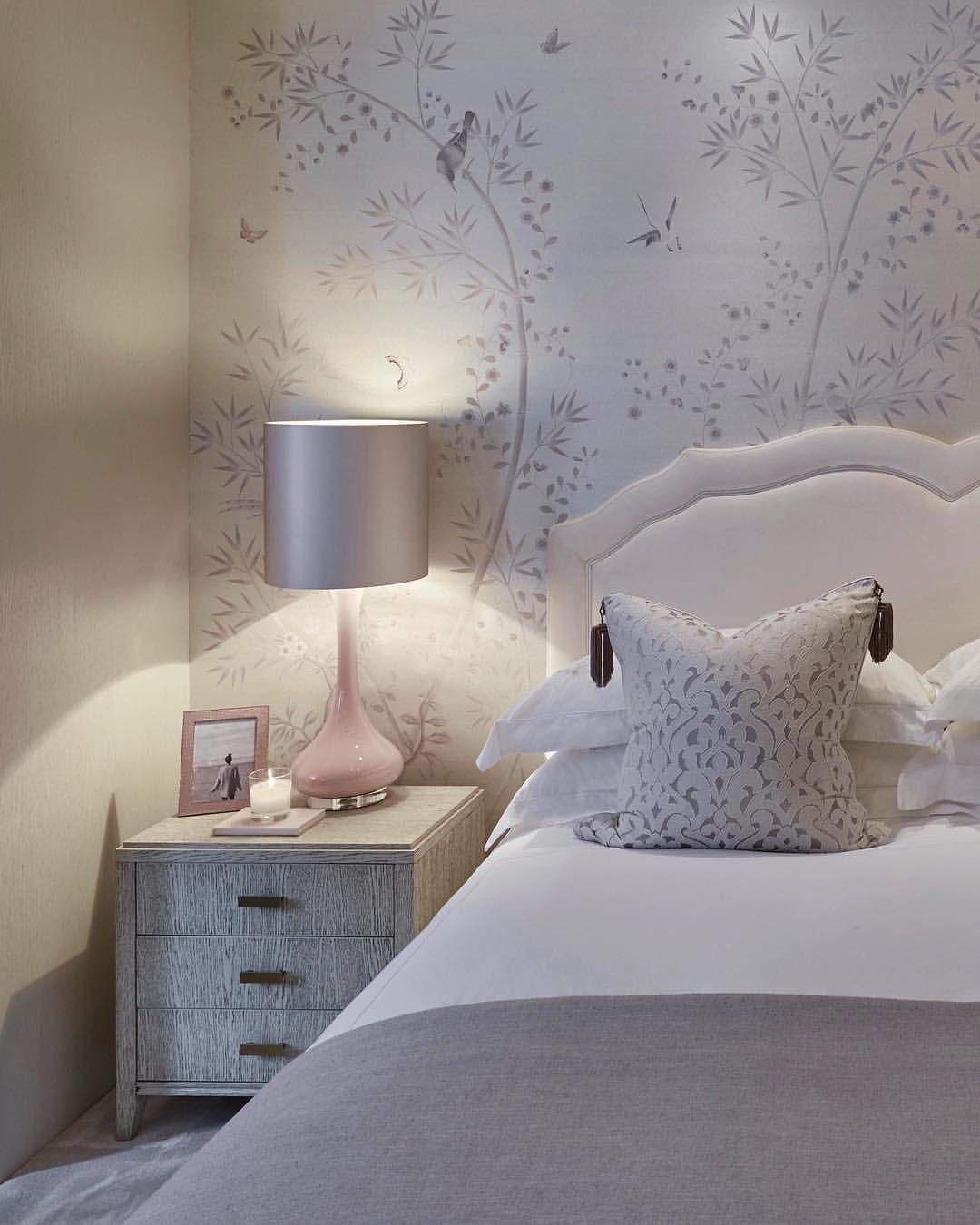 Serene Master Bedroom Bedroom Wardrobes Fromental Wallpaper Home Luxuryinteriors S Bedroom Interior Sophie Paterson Interiors Master Bedroom