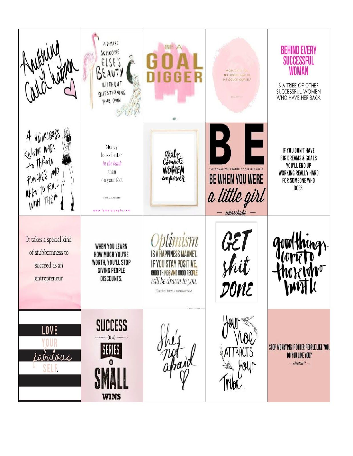 free planner printables: girl boss & coffee stickers for happy