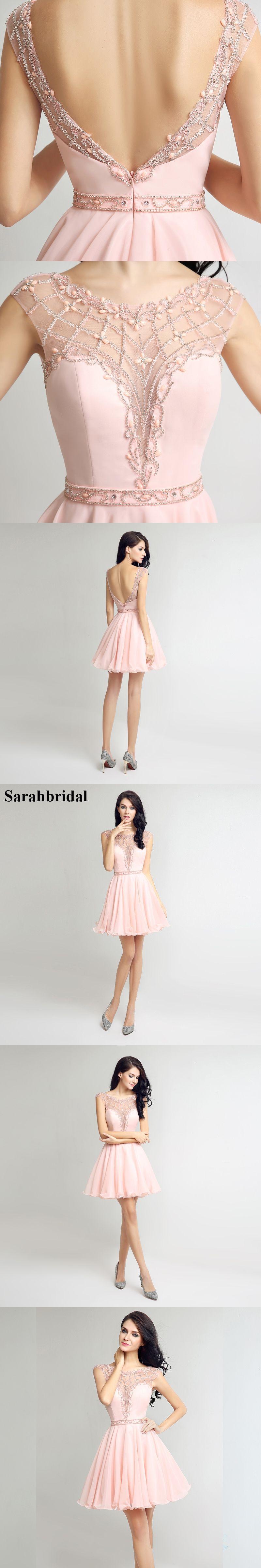 Sweety homecoming short dresses with jewel zipper chiffon