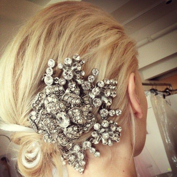 from the Oscar de la Renta showroom #hair #jewelry #accessories #sparkle