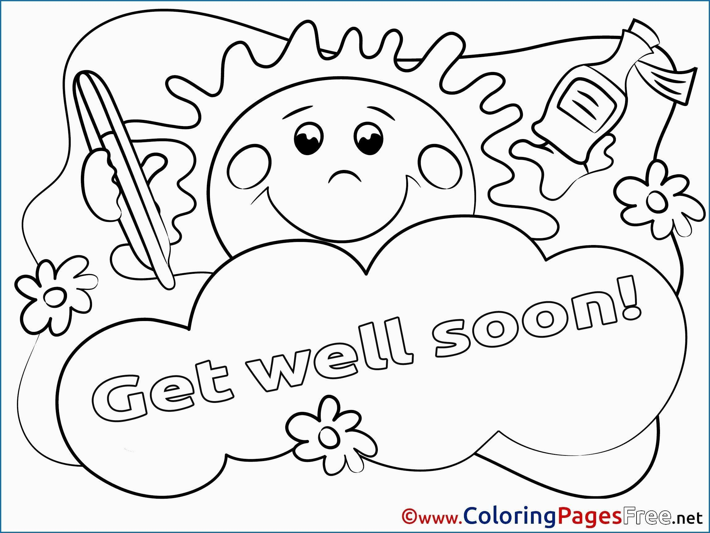 Get Well Soon Coloring Pages Gallery Get Well Cards Get Well Soon Coloring Pages Cute