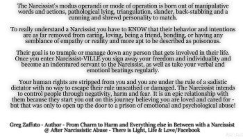 The truth about living in NARCISSIST-ville and why we have to move out and never return!