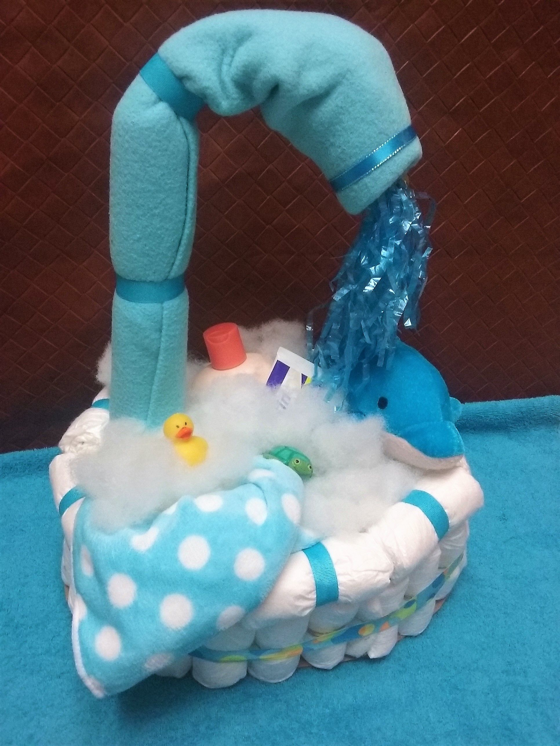 Baby Shower Diaper Cake Boy Or Girl Options Bathtub Party