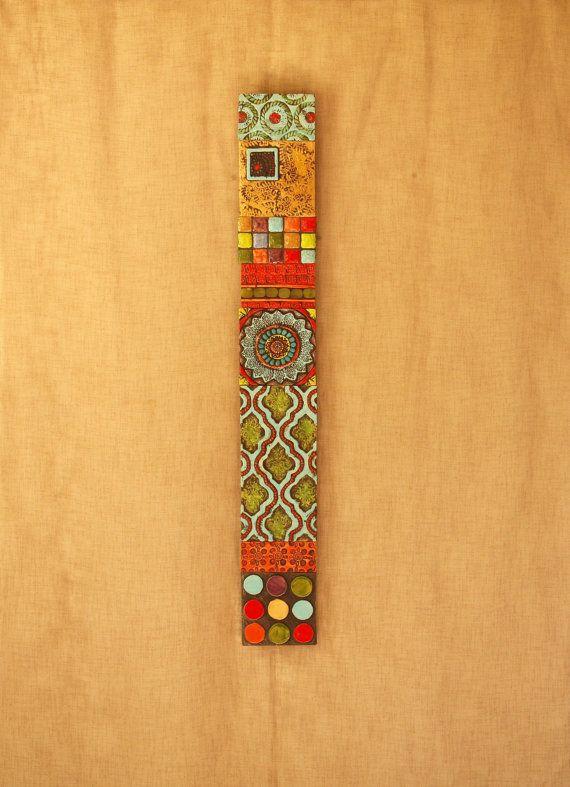 Vertical Wall Art Mosaic Wall Art Wall Art Ceramic Wall Art Stick ...