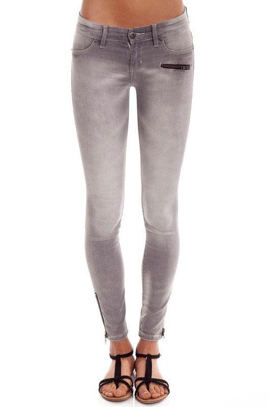 Tobi | Blank Zipped Skinny Jeans in Fizzy Lizzy - $80