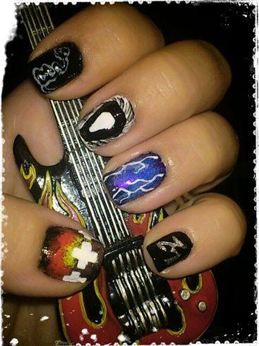 Metallica Nail Art By Love4beauty Gallery Nailartgallery Nailsmag Nails Magazine Www Nailart
