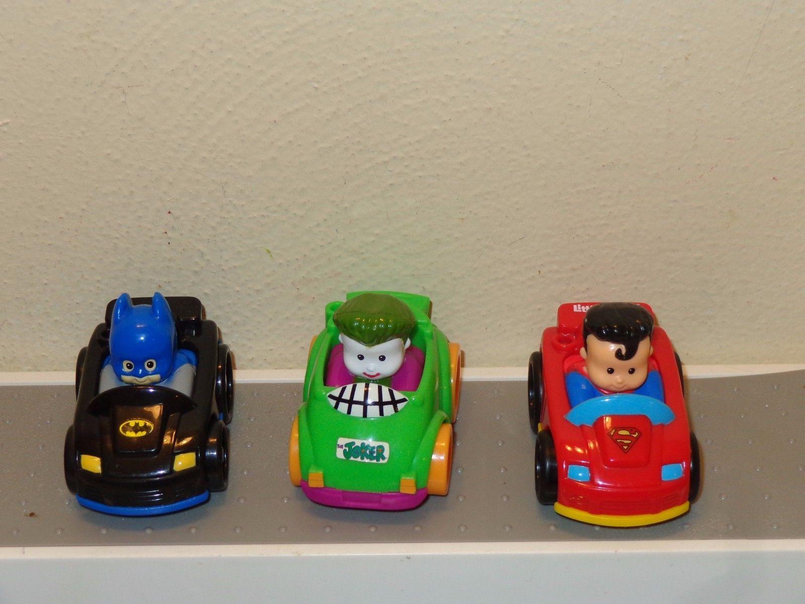 Fisher Price Little People DC Super Hero Wheelies Joker Batman Cars Batmobile