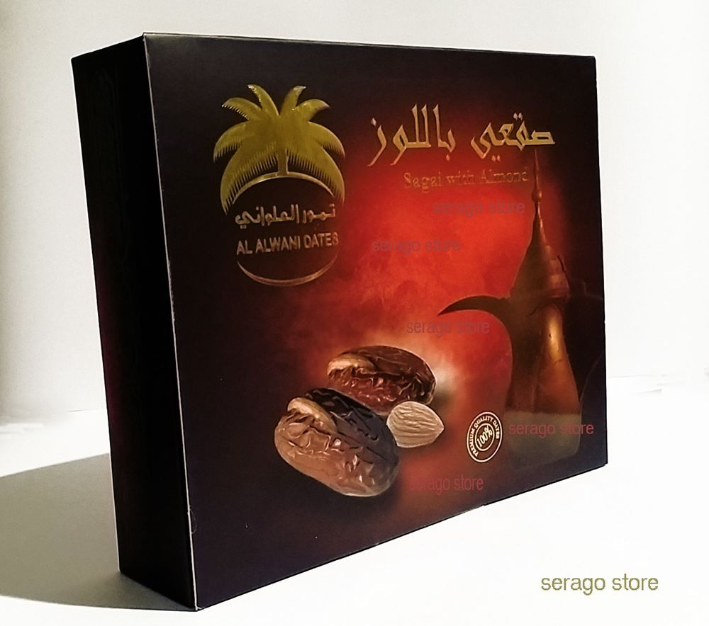 dates with almond ( sagai ) - 300 gm PREMIUM SAUDI ARABIAN