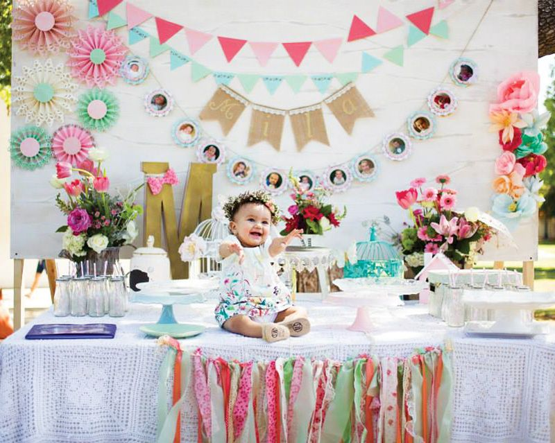 Blooming Spring Fling First Birthday Party Birthday Party