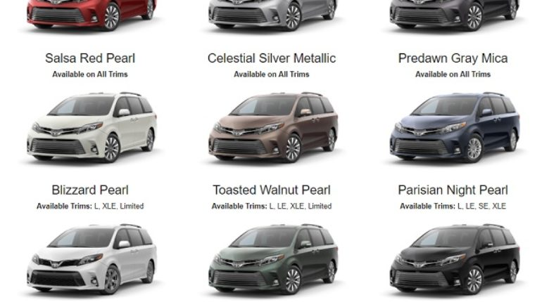 Here Are 2020 Toyota Sienna Colors 2020 2021 Toyota Si In 2020 Toyota Valencia Bilder