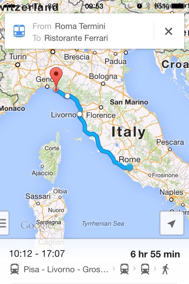 Map Of North West Italy.Take The White Arrow Fast Train From Rome An Easy 4 5 Hour Ride To