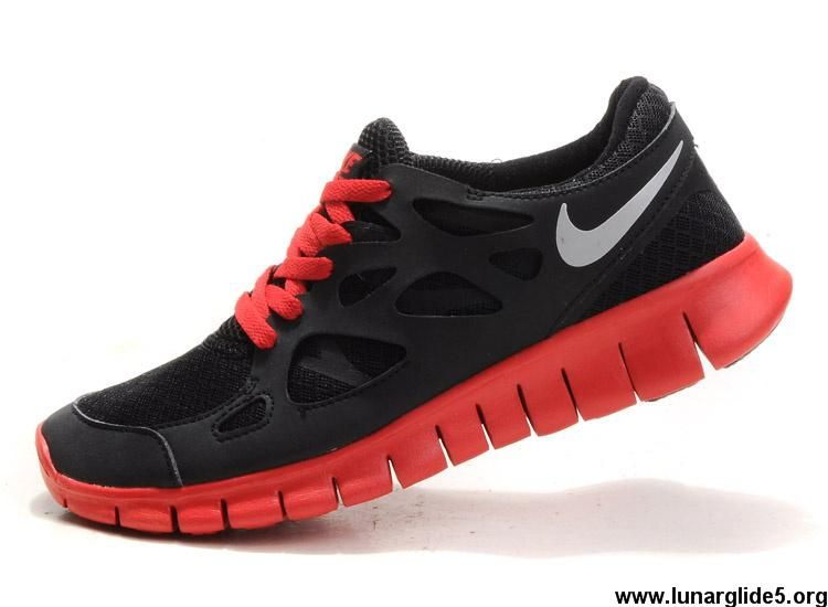 bf28a8f8500b Latest Listing Discount 512933-006 Nike Free Run 2 Mens Black Reflective  Silver Challenge Red Fashion Shoes Shop