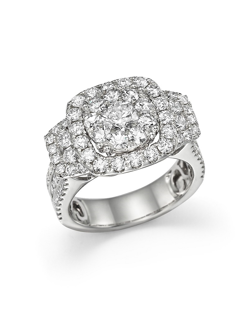 5,184.00$  Buy here - http://vimsw.justgood.pw/vig/item.php?t=eo6o74b23907 - Bloomingdale's Diamond Cluster Statement Ring in 14K White Gold, 3.0 ct. t.w. - 100% Exclusive