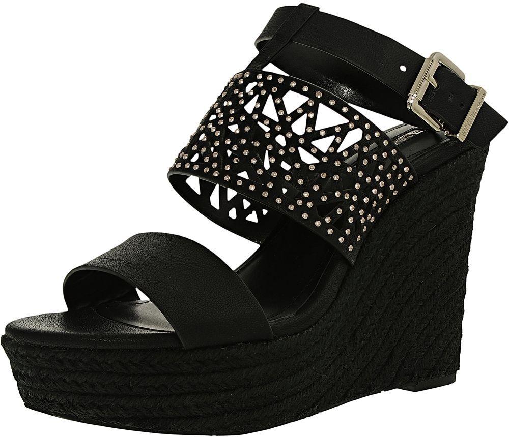 Bcbgeneration Black Wedge Sandal For