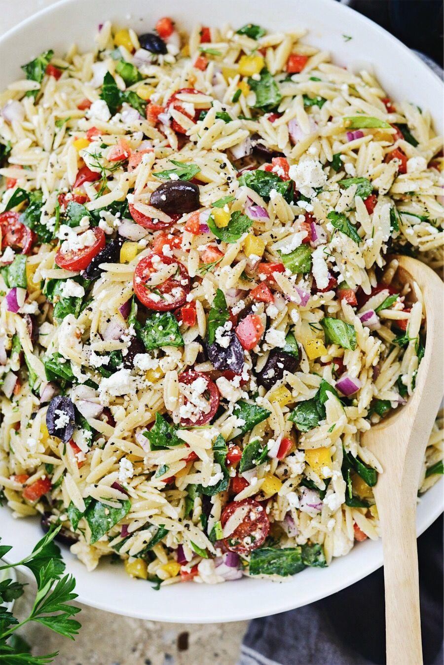Greek Orzo Salad - Simply Scratch