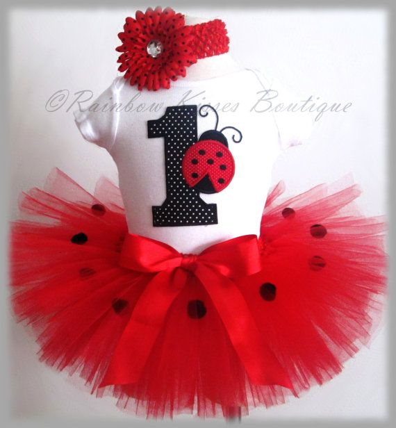 Ladybug Birthday Outfit 1st Birthday Outfit By RBKBoutique